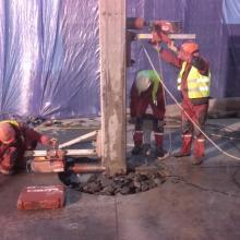 cięcie otworów betonowych